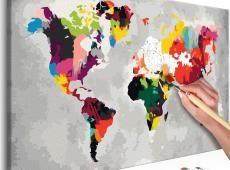 Kifestő - World Map (Bright Colours)
