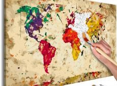 Kifestő - World Map (Colour Splashes)