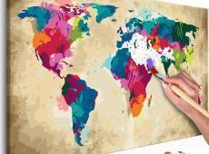 Kifestő - World Map (Colourful)