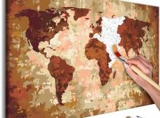 Kifestő - World Map (Earth Colours)