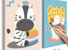 Kifestő - Zebra & Leopard