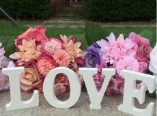 LOVE II. festett fa felirat