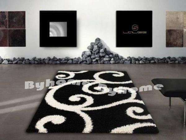 Shaggy Soft Szőnyeg | 106 Black & White