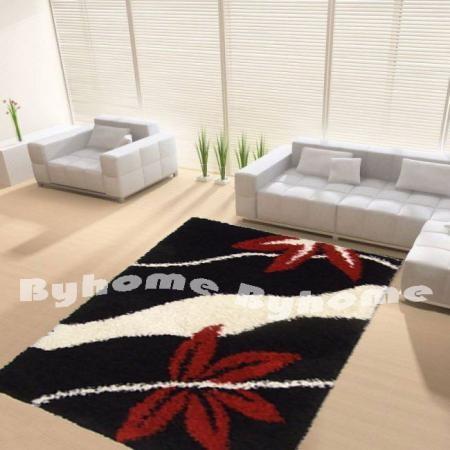 Shaggy szőnyeg | 914 black red