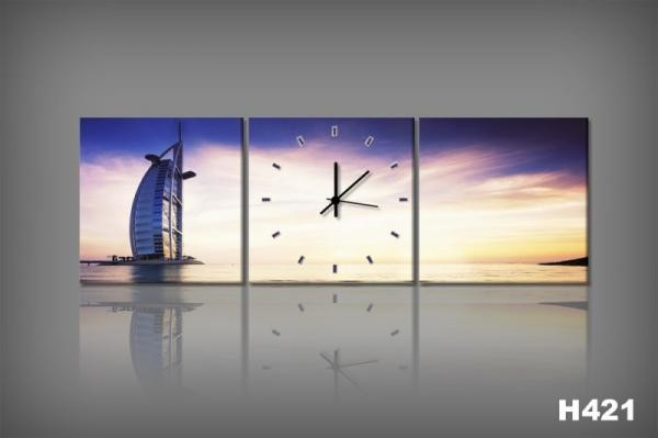 Vászonkép Faliórával Dubai H421