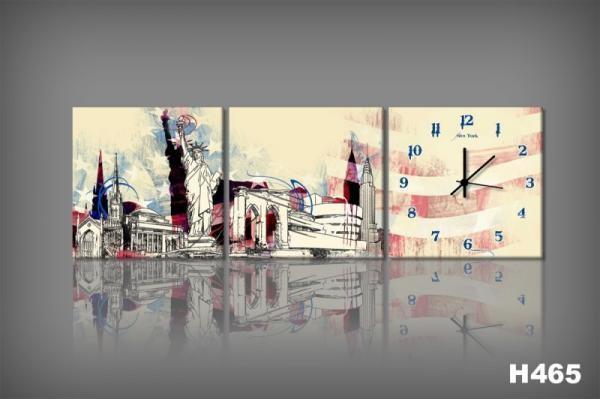 Vászonkép Faliórával H465 New York