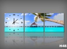 Vászonkép Faliórával H482_KK Spiaggia Tropicale