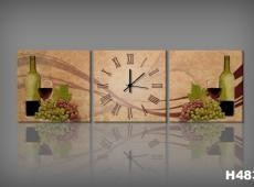 Vászonkép Faliórával H483 Bottiglia di vino