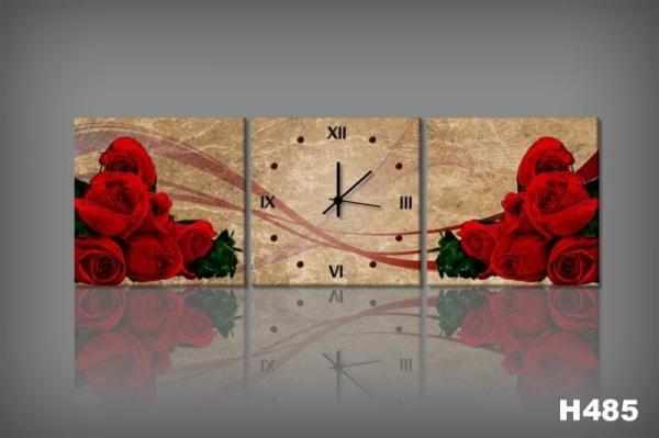 Vászonkép Faliórával H485 mazzo di rose