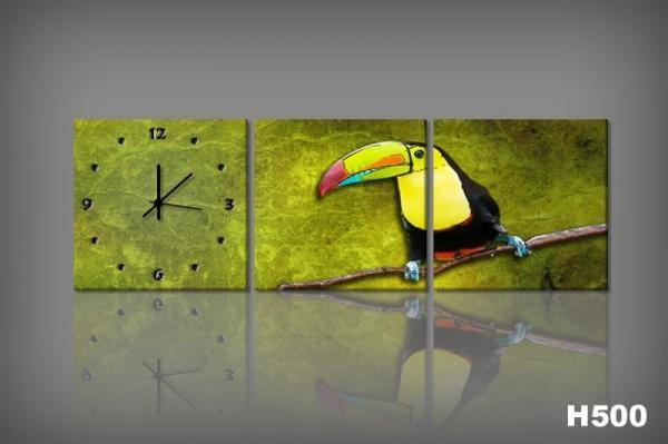 Vászonkép Faliórával H500 ambiente Toucan