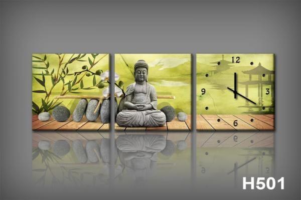 Vászonkép Faliórával H501 dipinti e Buddha_KK