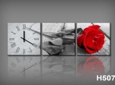 Vászonkép Faliórával H507 grigio rosa