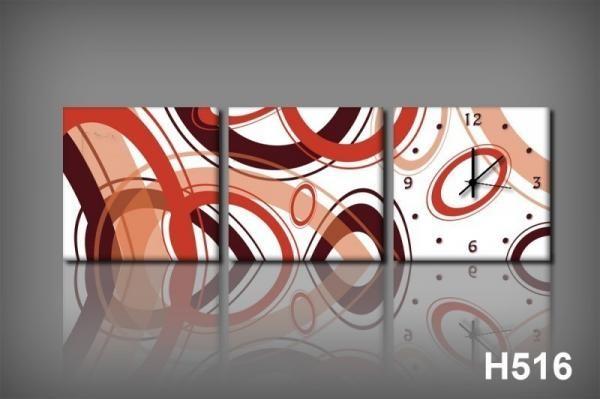 Vászonkép Faliórával H516 Circles