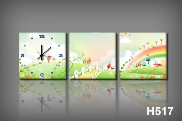 Vászonkép Faliórával h517