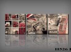Vászonkép Faliórával h526 B_KK