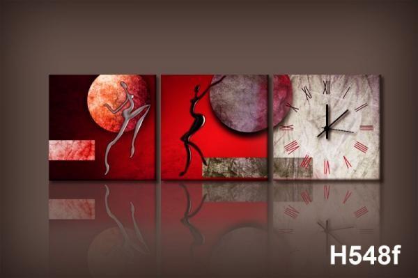 Vászonkép Faliórával h548