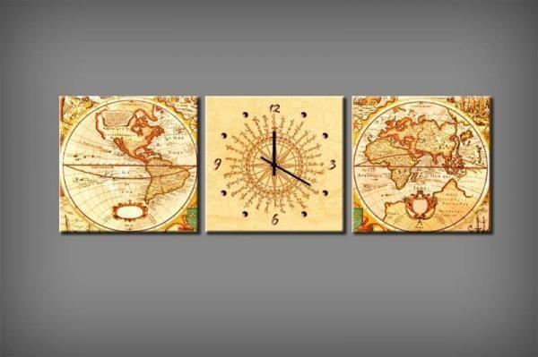 Vászonkép Faliórával H590 Global