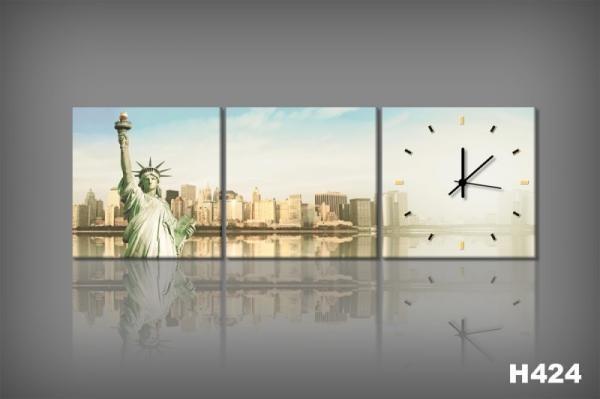 Vászonkép Faliórával New York Soleggiato H424