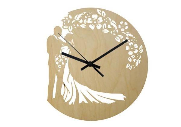 Wood - Esküvő2 - falióra