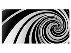 XXL Fotótapéta - Black and white swirl