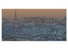 XXL Fotótapéta - Jó estét Párizs!