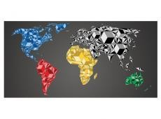 XXL Fotótapéta - Map of the World - colorful solids