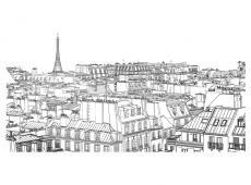 XXL Fotótapéta - Párizsi a vázlatfüzet