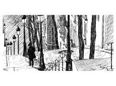 XXL Fotótapéta - stairs - Montmartre
